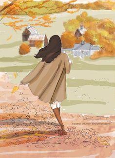 Autumn Walk in Vermont - Heather Stillufsen Cards Heather Stillufsen art Hello Weekend, Bon Weekend, Weekend Vibes, Happy Weekend, Autumn Walks, Hello Autumn, Autumn Inspiration, Female Art, Art Girl