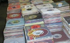 """ROCK-160 vinyl records, 7"""" 45s company or new plain sleeves, graded 90% VG+/NM."""