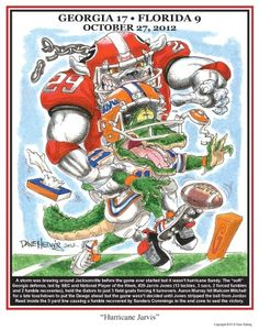 "UGA print featuring Jarvis Jones entitled ""Hurricane Jarvis"" by Dave Helwig @ BetweenTheHedgesS. When Does Football Start, Bulldog Wallpaper, Georgia Bulldogs Football, Football Art, College Football, Georgia Girls, Hurricane Sandy, University Of Georgia, Sports Art"