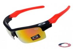 12dce13136 Fake Oakleys Fast Jacket sunglasses Red Black   Fire Iridium Oakley  Sunglasses