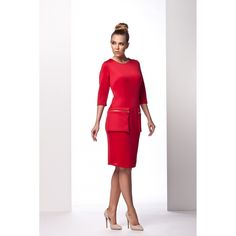 sukienka model l red lemoniade dresse day dresses Lemoniade Fashion Addict, Day Dresses, Outfit Of The Day, Peplum Dress, Street Wear, Street Style, Lifestyle, Stylish, Womens Fashion
