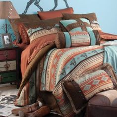 Painted Desert Bedding Collection. Love the colors