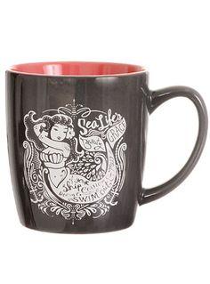 Notes From a Nautical Nymph Mermaid Mug at ShopPlasticland.com