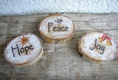 Wood Slice Ornament Rustic Wood Home Decor by ForesteDiOro on Etsy