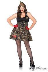 COSTUME GRANDE TAILLE 2 PIÈCES MISS ARMÉE  http://www.prod4you.com/#!costumes-grandes-tailles/c1e24