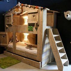 Scaffolding Wooden Kids Bunk Bed