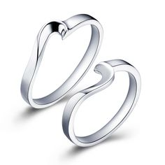 Find More Rings Information about Ring for Lovers Sterling Silver Fashion Rings Charms Anel Feminino Bijoux Heart Shape with Two Components Engagement Ulove J042,High Quality ring personalized,China ring with big stone Suppliers, Cheap ring sundial from Ulovestore Jewelry on Aliexpress.com