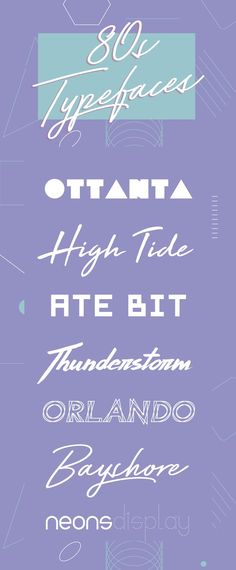 On the Creative Market Blog - 20 Perfect 1980's Typefaces to Evoke Nostalgia