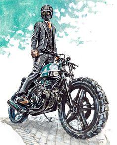 Motorcycle drawing artworks Ideas for 2019 – Best Motorcycles Motorcycle Tattoos, Motorcycle Logo, Scooter Motorcycle, Motorcycle Style, Bike Style, Bicycle Sidecar, Motorcycle Birthday, Biker Photoshoot, Arte Black