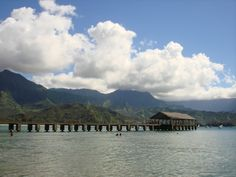 Hanalei Pier! Kris and I got married overlooking this pier. Favorite spot in Kauai :)