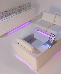 Lumilum RGB Strip Lights set to purple
