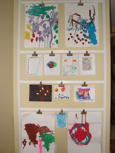 Diy way to hang kids art work or photos do it yourself pinterest diy way to hang kids art work or photos do it yourself pinterest clip art crafty and display solutioingenieria Gallery
