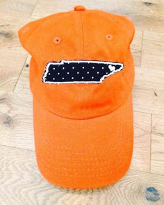 Tennessee Vols Hat by CrystalsCornerShop on Etsy, $15.00 navy state, white monogram on the back
