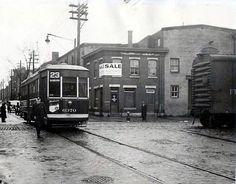 PTC Nearside trolley on Tramway, Rapid Transit, Light Rail, Philadelphia Pa, Pennsylvania, Abandoned, Trains, Transportation, Around The Worlds