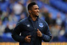 Eto'o still has killer instinct at Everton,says Everton left-back Leighton Baines Leighton Baines, Everton Fc, English Premier League, Adidas Jacket, Rain Jacket, Windbreaker, Football, Sayings, August 2014