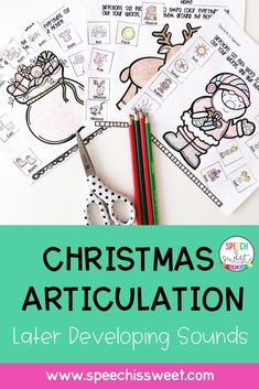 These no prep Christmas articulation activities are ideal for speech therapy, as students remain occupied (and have fun!) as they wait for their turn to engage in repetitive drills. You can also send these pages home as homework. This packet features the later developing sounds: /s, z, th, l, r, ch, j, sh/ and by request /-ts/. | Speech is Sweet