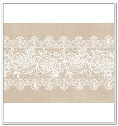 Burlap Lace Wedding Invitations by Emily Crawford Burlap Background, Background Vintage, Papel Scrapbook, Scrapbooking, Ben Y Holly, Transfer Images To Wood, Burlap Party, Victorian Wallpaper, Lace Wallpaper
