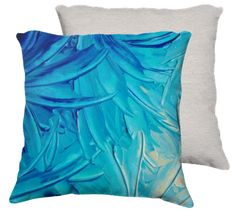 Water Flowers - Velveteen Throw Pillow
