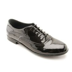 Runway, Black Patent Girls Lace-up School Shoes http://www.startriteshoes.com/school-shoes/