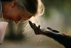 National Geographic: Photo of Jane Goodall by Michael Nichols.