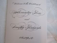 Wedding Church Program Booklet with Crystals by PlaceOfEvents