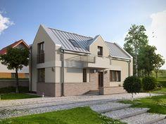 Ryś (92,66 m2) to projekt domy na wąską działkę z możliwością jego usytuowania po gracy działki i który w swoim układzie funkcjonalnym posiada dodatkowy pokój na paterze. Szczegóły projektu dostępne są na stronie:  https://www.domywstylu.pl/projekt-domu-rys.php #projekty #projekt #domy #dom #domywstylu #mtmstyl #nawąskądziałkę #wąskadziałka #aranżacje #design
