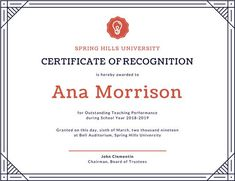 Use this customizable White Bordered Modern Recognition Certificate template and find more professional designs from Canva. University Certificate, Plaque Design, Certificate Templates, Printable, Teaching, School, Modern, Free, Trendy Tree