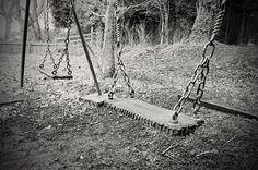 old, swing, abandoned