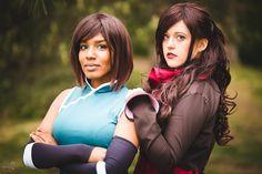 Korra and Asami Cosplay DOKOMI by llAngelusll on DeviantArt