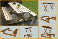Gather with your family and have a picnic right in your backyard by making this picnic table. Get the tutorial and plans here: http://theownerbuildernetwork.co/205s