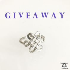 REMINDER. THIS GIVEAWAY ENDS SUNDAY! Spread the cheer #giveaway - the last of the 2017. Silver Serendipity Knot Ring with a #diamond. Retails at $150. Ends 17th of December 23.59 EST. Good luck! To enter: 1. like this post (also at @trilogienow) 2. Comment 3. Follow @trilogienow 4. Extra credit: follow @janetcadsawan & @trilogienow on twitter 5. Extra extra credit: share this post.