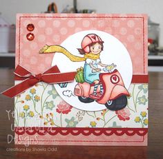 Scooter Chloe card by Shaela - Cards and Paper Crafts at Splitcoaststampers