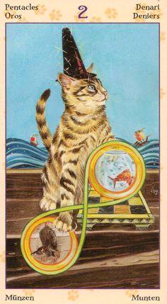 2 d'écus - Tarot de chats païens