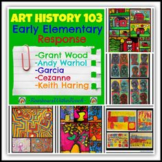 History Early Elementary Art Response Art History Early Elementary Projects in Response to the Masters at RainbowsWithinReach (continuing series)Art History Early Elementary Projects in Response to the Masters at RainbowsWithinReach (continuing series) Art History Lessons, 5th Grade Art, Art Worksheets, Art Curriculum, Middle School Art, Art Lessons Elementary, Art Classroom, Classroom Signs, Art Lesson Plans