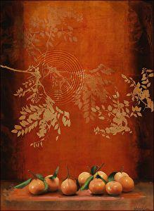 Saffron Dream by Sherry Loehr Acrylic ~ 36 x 24