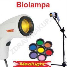 Biolampa + kolorterapia 7 filtrov + veľký stojan + kufrík Medilight biolampa