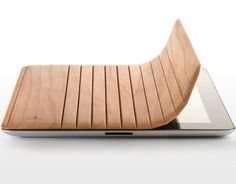 Mk2 Wood iPad Cover by Miniot.