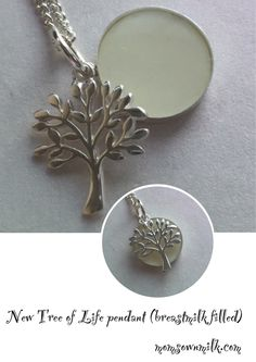 Breast milk pendants the process jewelry making for Breastmilk jewelry tree of life
