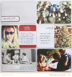 My Project Life spread using the January Block Party Project Life kit from @Studio Calico.