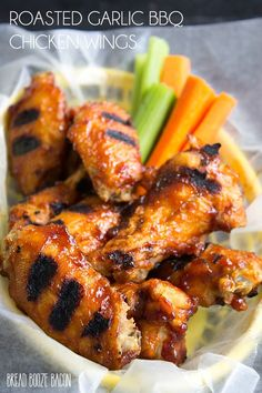Roasted Garlic BBQ Chicken Wings Recipe are the best part of game day. Serve up…