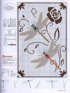 Dragonfly  Todos los esquemas de punto de cruz que te puedas imaginar | Aprender manualidades es facilisimo.com by Banphrionsa