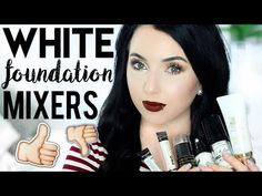 Talkin all about white foundation mixers! All products mentioned are below. - Makeup Tips For Dark Circles White Foundation Makeup, Foundation For Mature Skin, Too Faced Foundation, Pale Face, Pale Skin, Fair Skin Makeup, Face Makeup, Fair Girls, White Makeup