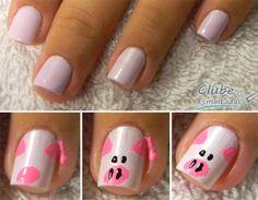 Nail Art - Porco (PIG)