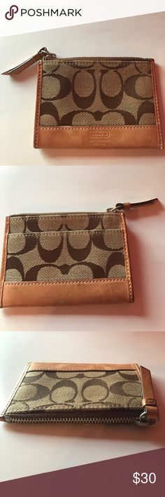 ❗️New: Coach Coin Purse Brown Logo Coach Coin Purse - Used, but in Great Condition Coach Bags Wallets