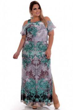 Vestido Plus Size Green Liberty