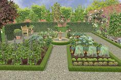 Plan de jardin potager en classique...