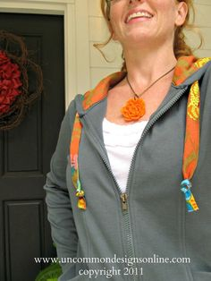 Makeover a Hoodie With Pretty Fabric