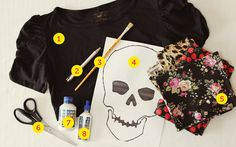 diy skelly T-shirt
