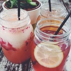 healthy drinks in jars
