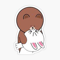 Duck Or Rabbit, Bunny Rabbit, Cony Brown, Brown Bear, Line Cony, Brown Line, Bear Wallpaper, Line Friends, Love Stickers